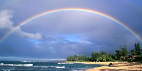 радуга над морем