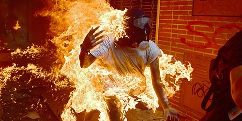 горящий человек