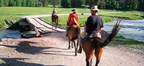 ехать верхом на коне