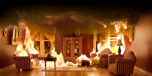 к чему снится пожар в собственном доме