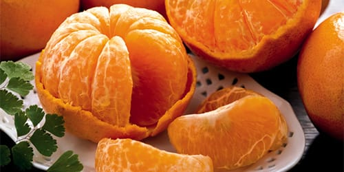 чищенные мандарины