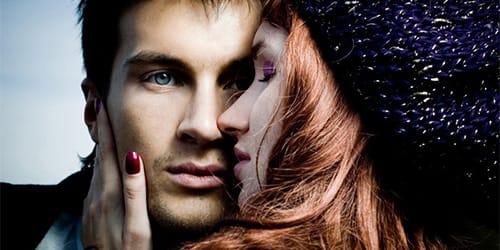 Фото девушка с мужчиной в темноте