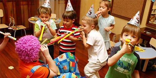 гости на детском празднике
