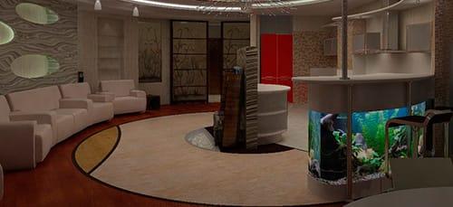 округлая комната