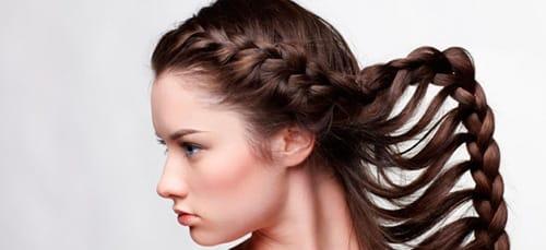 коса на голове