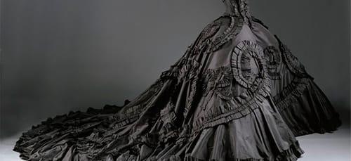 свадебное черное платье