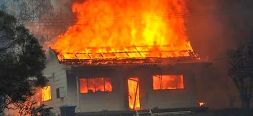 сонник горит дом