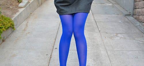 синие колготки