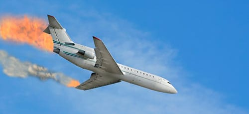 сонник падающий самолет