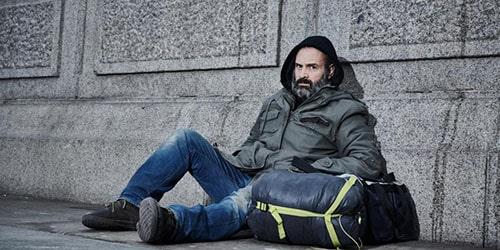 Бездомный человек