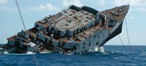к чему снится корабль тонет