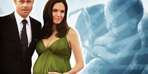 беременная знаменитость во сне