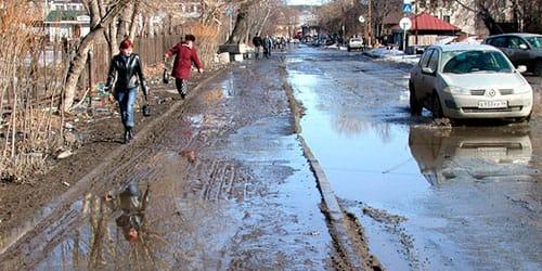 сонник грязь на дороге