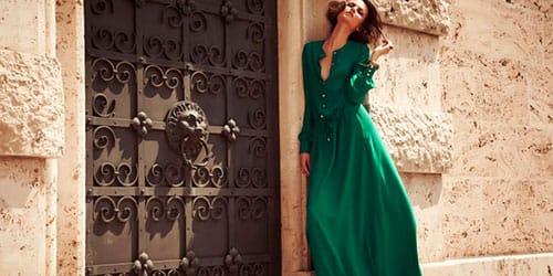 сонник зеленое платье