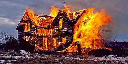 сонник дом сгорел