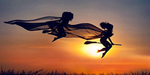 полет ведьмы на метле во сне