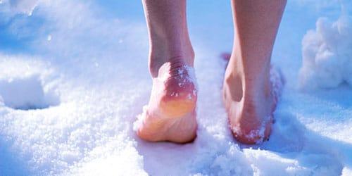 ходить босиком по морозу во сне