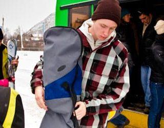 Выйти из автобуса