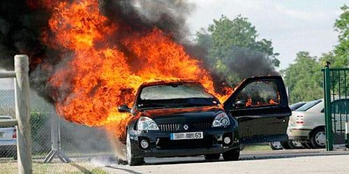 сонник горящая машина