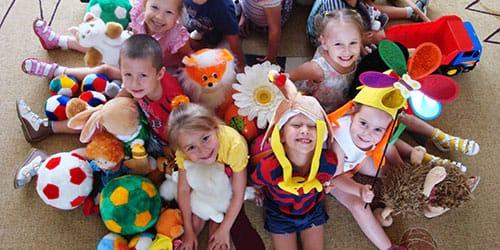 детский сад с детьми