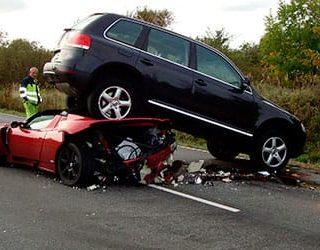 Попасть в аварию на машине