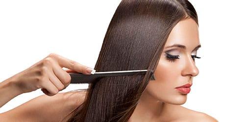 расчесывать темные волосы