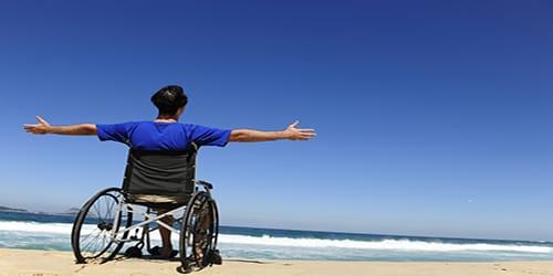 безногий человек инвалид