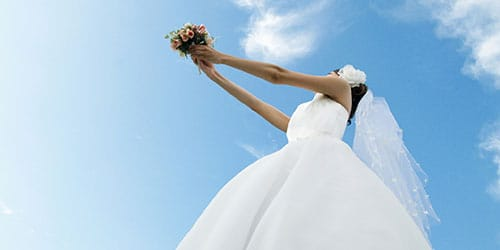 удалось поймать букет невесты