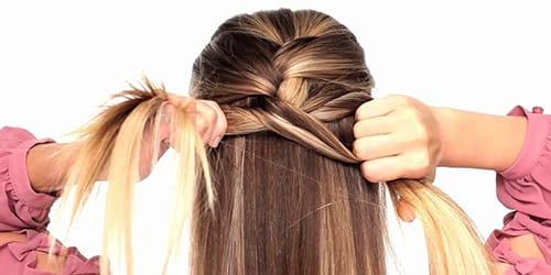 заплетать волосы самой себе