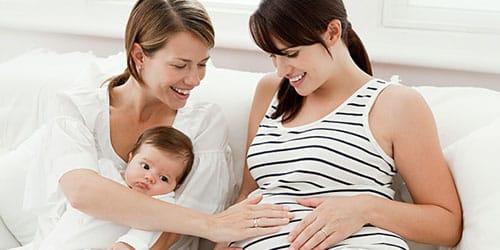 беременная родная сестра