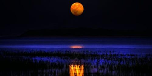 большая луна на небе