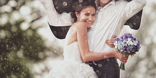 ходить под дождем в свадебном платье