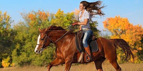 сидеть верхом на лошади