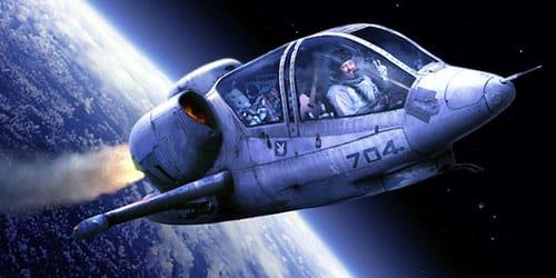 летать на космическом корабле
