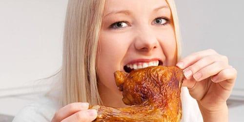 кушать куриное мясо