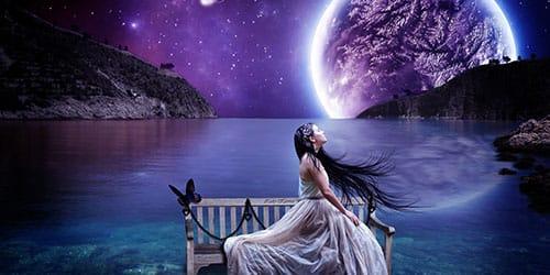 полная луна на небе