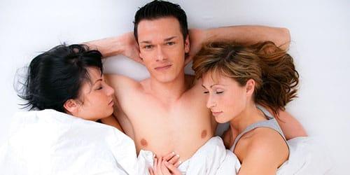 групповой секс с женой и подругой