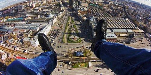 видеть себя на крыше высокого здания