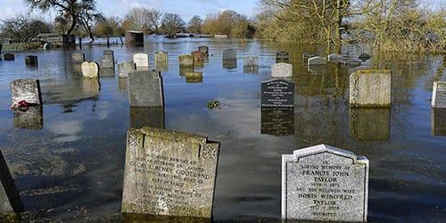затопило кладбище во сне