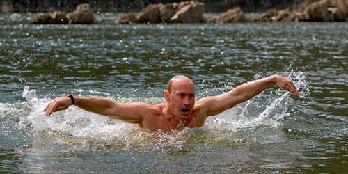 купаться в холодной реке