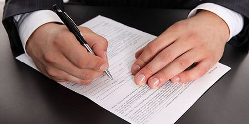 подписывать заявление