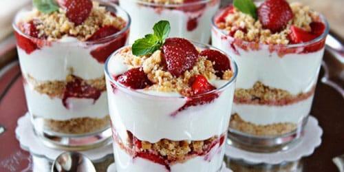 десерт со сливками
