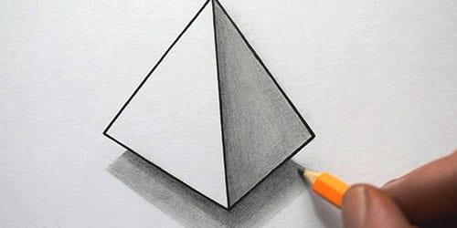 нарисованный треугольник