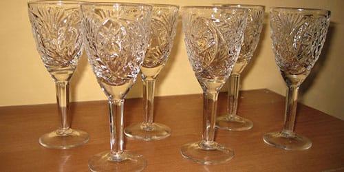 бокалы из хрусталя
