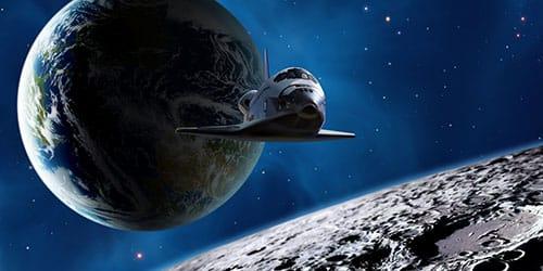 разглядывать млечный путь через иллюминатор ракеты