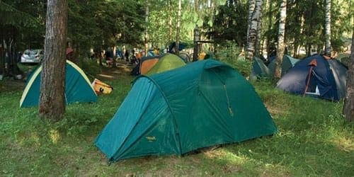 видеть палаточный городок
