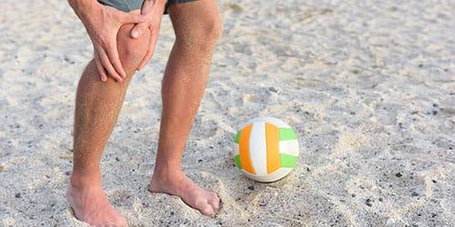 получить травму во время игры в волейбол