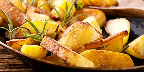 картошка подгорела