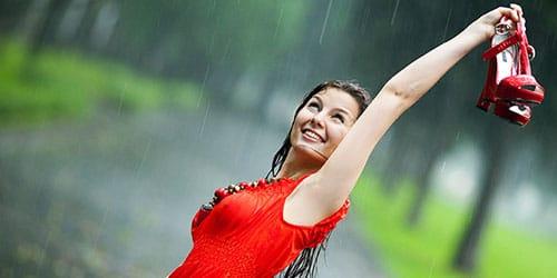 теплый дождь