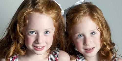 рыжеволосые близнецы
